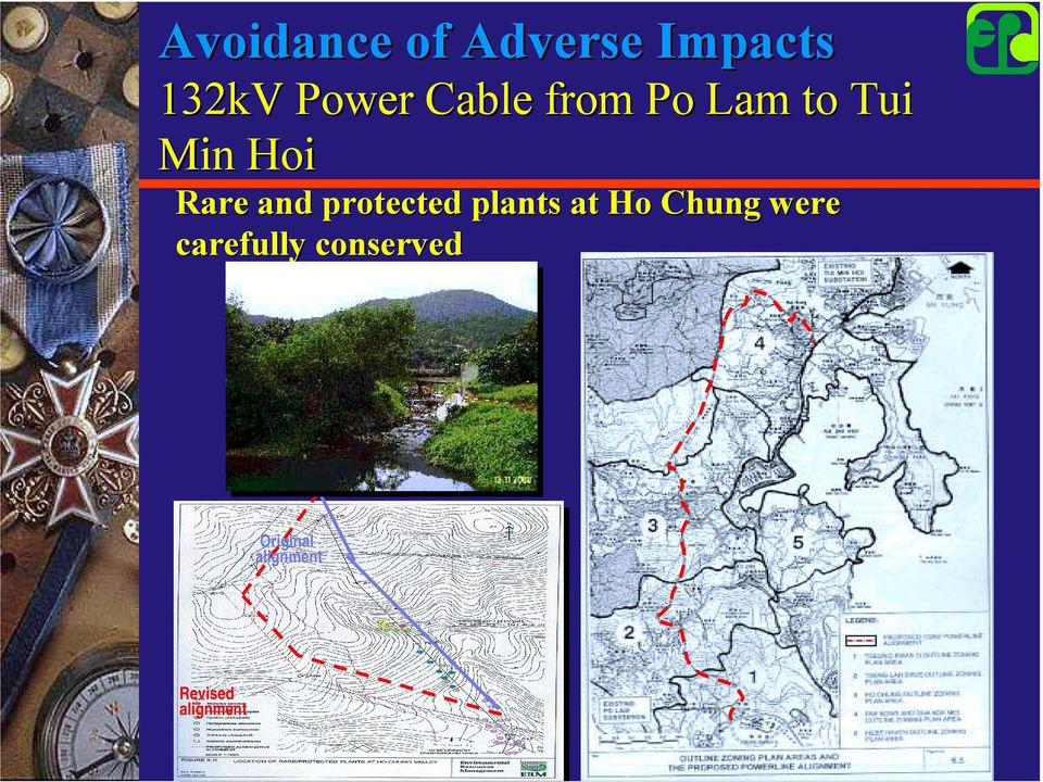 protected plants at Ho Chung were carefully