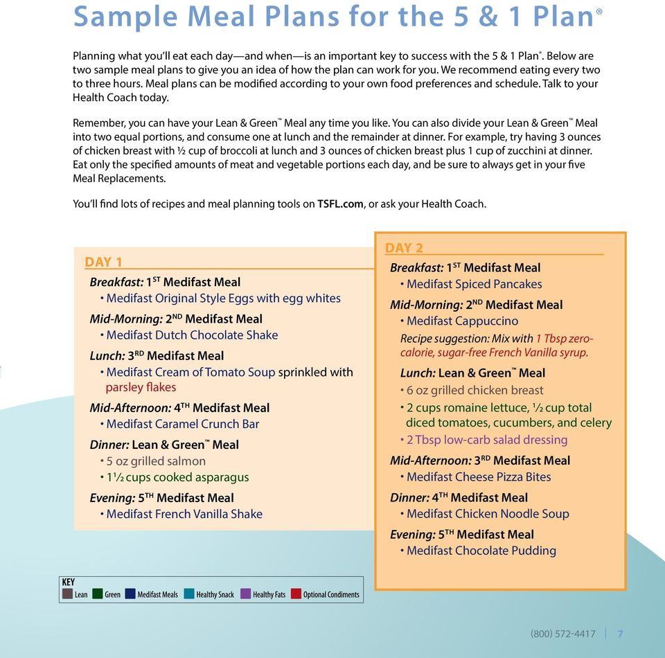 Meal plans can be modified according to your own food preferences and schedule. Talk to your Health Coach today. Remember, you can have your Lean & Green Meal any time you like.