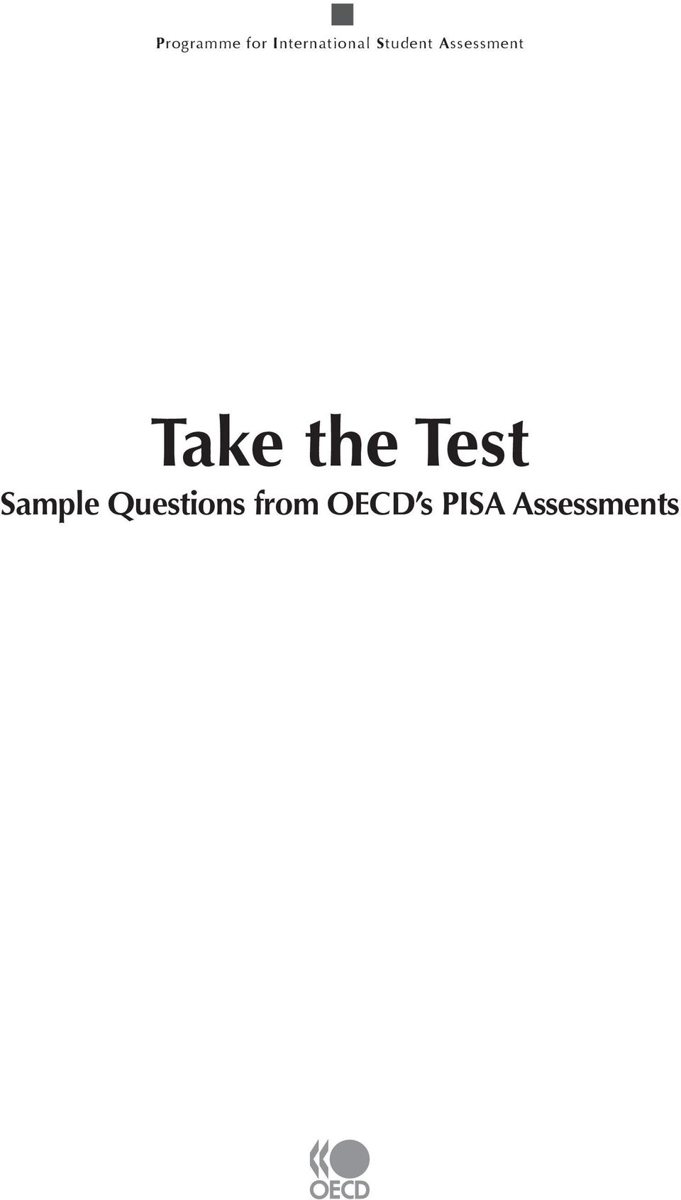 Assessment Take the Test