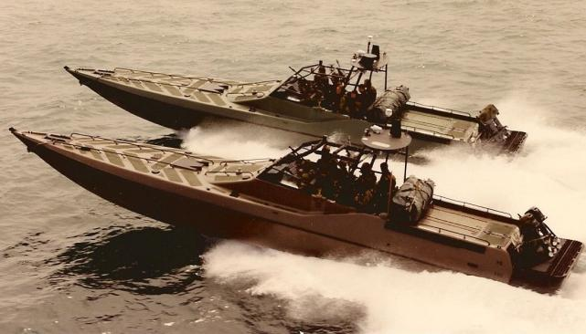 Originally known as Enforcers, Arun Marine Design adapted sport racing boat designs to perform as early patrol boats which were constructed by several British builders.