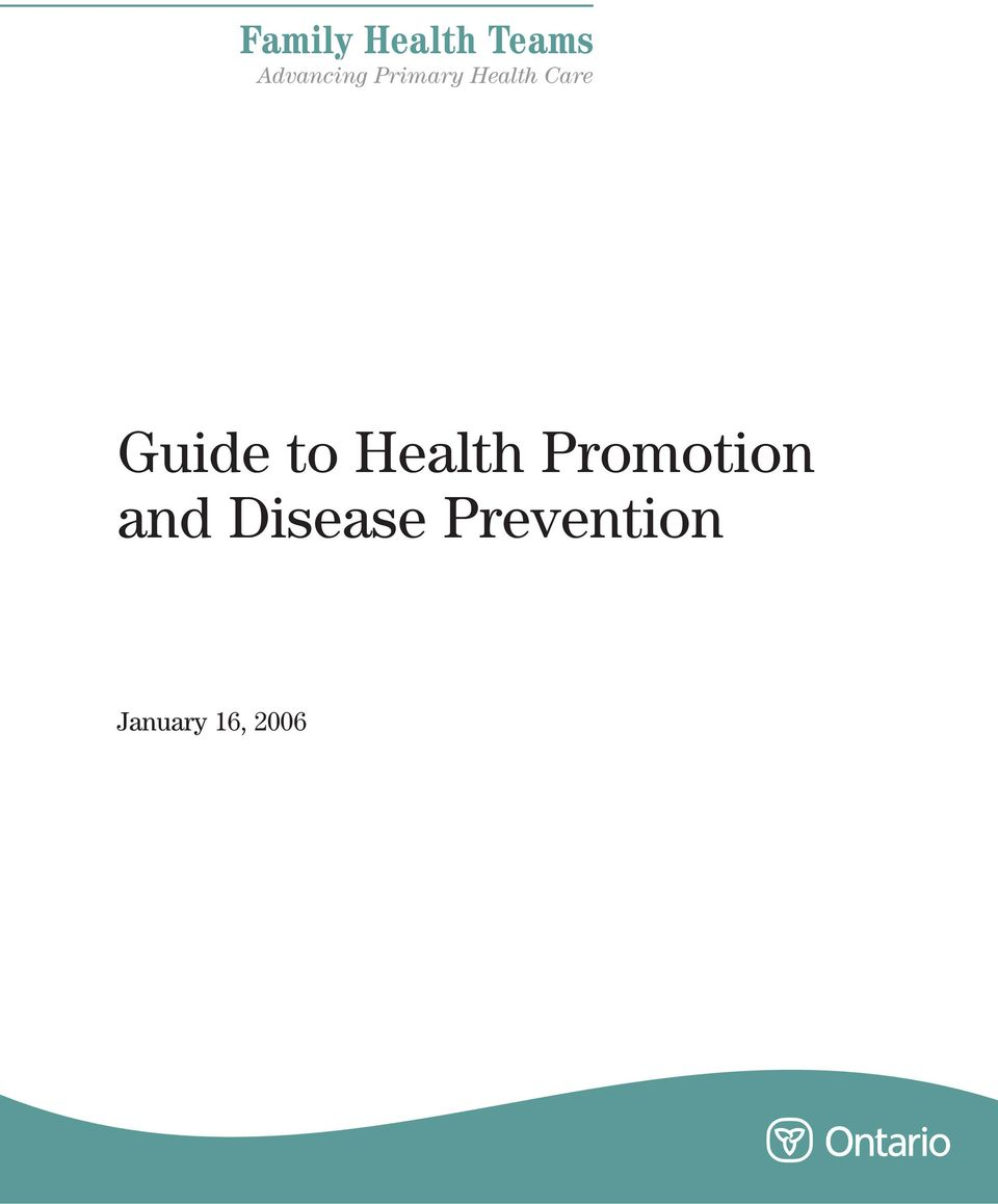 Care Guide to Health