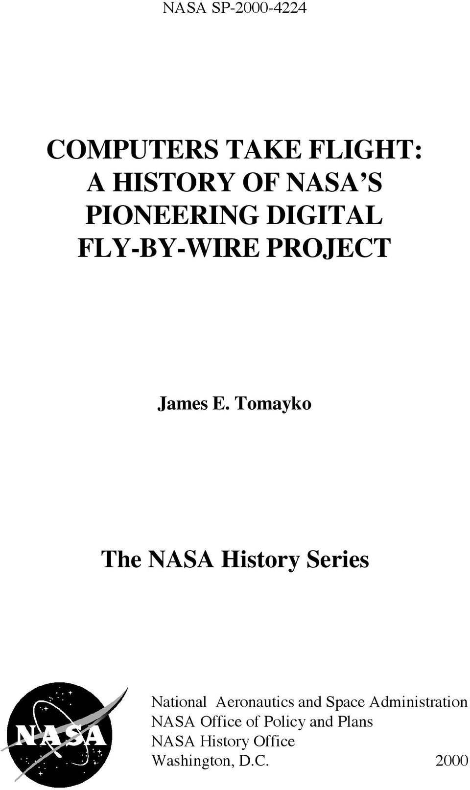Tomayko The NASA History Series National Aeronautics and Space