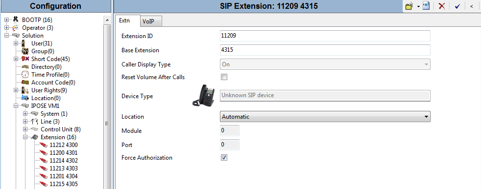 5.4. Administer SIP Extensions From the configuration tree in the left pane, right-click on Extension, and select New SIP Extension