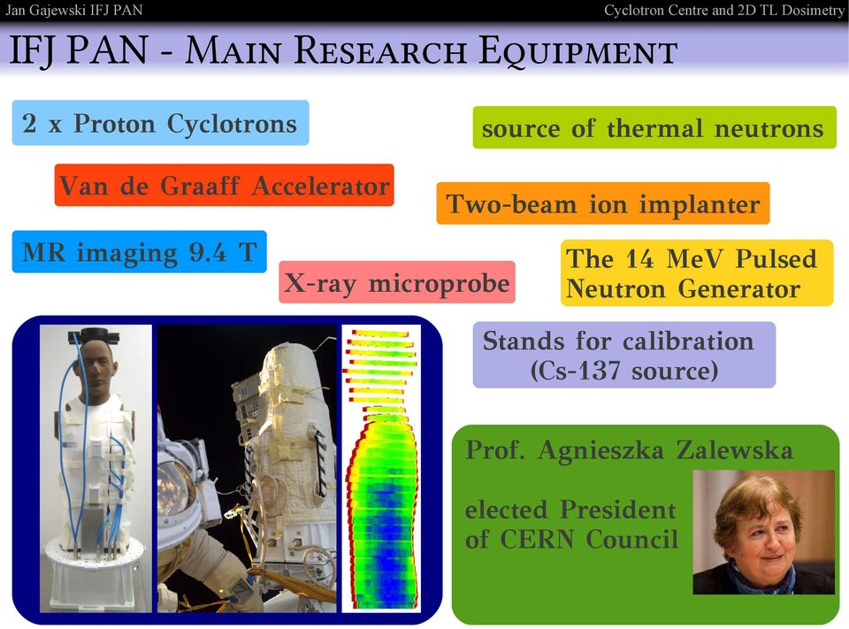4 T source of thermal neutrons Two-beam ion implanter X-ray microprobe The