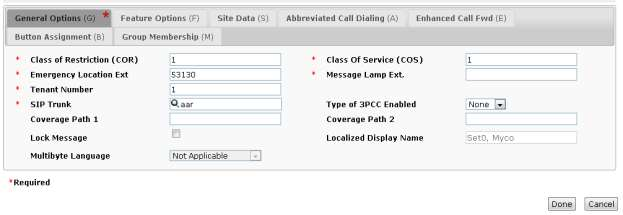 Ensure that CM Endpoint Profile is selected. Select DevCM as System and Enpoint for Profile Type. Enter 53130 for Extension and choose the 9620SIP_DEFAULT_CM_6_3 as the Template.