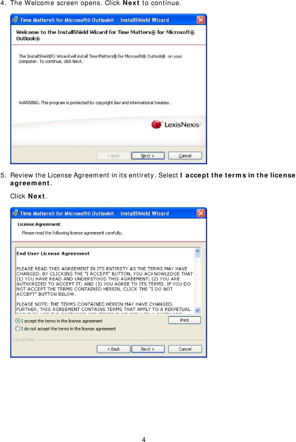 Review the License Agreement in its