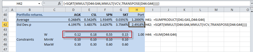A Portfolio Can Be Viewed As Bination Of Assets Held By An. 24 The Solution Weight 8 Portfolio Variance With Vba In This Section. Worksheet. Worksheetfunction Stdev Range At Clickcart.co