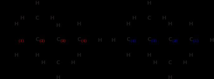 Look for any branched groups, name them and give their position on the carbon chain There are two methyl groups attached to the main chain.