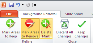 Go to Background Removal tab Close group click Keep Changes To cancel the automatic