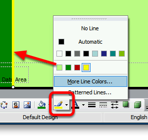 Change the Line Colour using the button