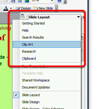 Right Side Task Panes This lesson will show you how to display various Task Panes at the right side of the main window The Task Pane The Task Pane is an area at the right of the window that lets you
