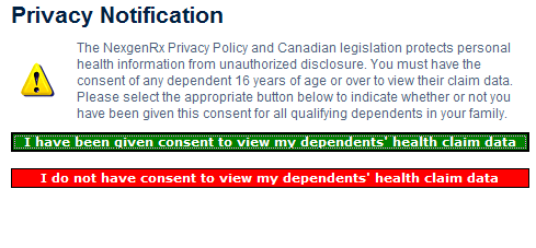 Privacy Consent For Privacy & Confidential reason, the member must indicate if they have consent to view