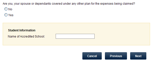 Submit A Claim Select the patient that the claim is for.