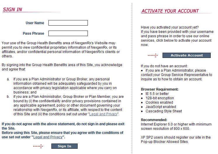 Activate your Account First time users will be required to ACTIVATE ACCOUNT by using the