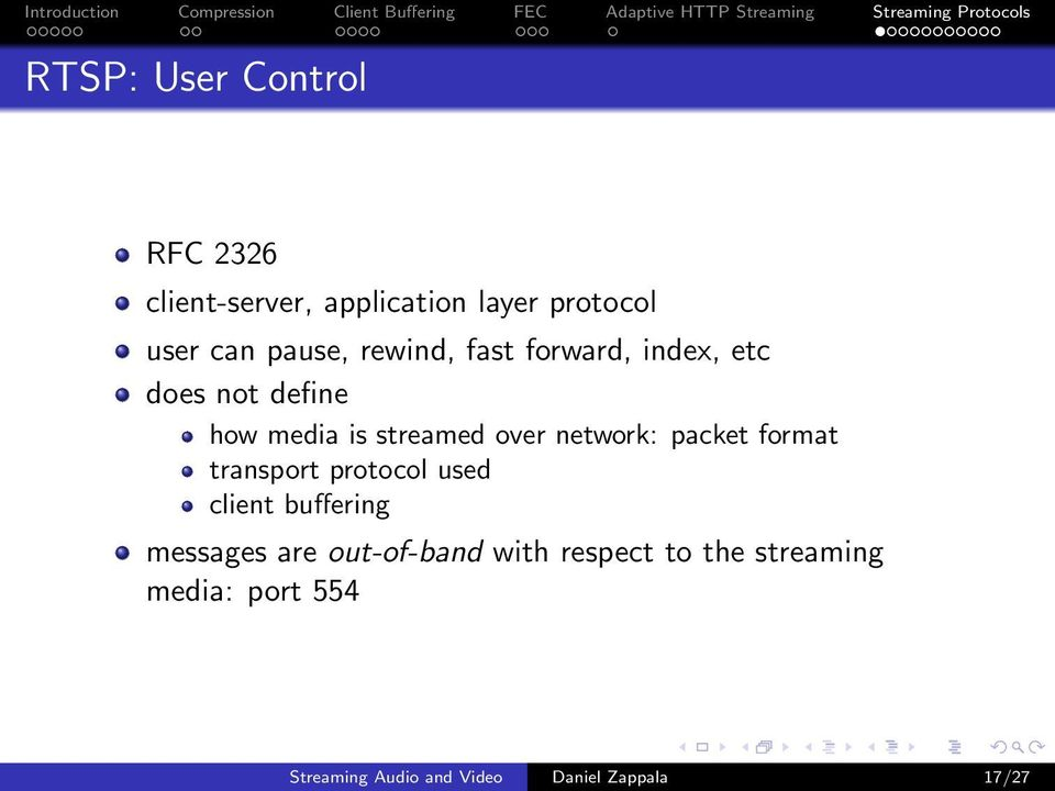 packet format transport protocol used client buffering messages are out-of-band with