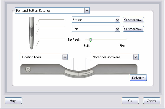 Customizing the Pen s Tip Feel 10. Start the Smart Board software Control Panel. 11. Click SMART Board Settings. 12. Click the AirLiner slate. 13.