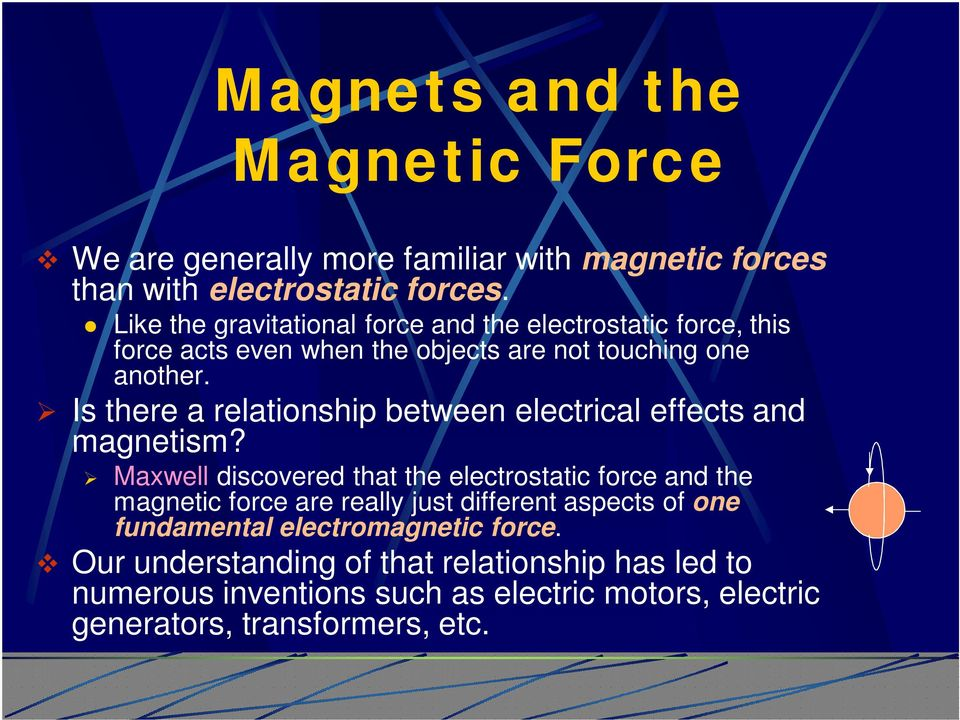 Is there a relationship between electrical effects and magnetism?