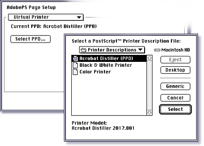 8 2) Choose Virtual Printer from the pop-up menu in the top left corner of the dialog box.