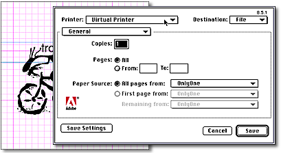3 To install the Virtual printer plug-in for the AdobePS driver Simply copy the file to: System Folder: Extensions: Printer Descriptions folder on your hard disk. Restart your Macintosh.
