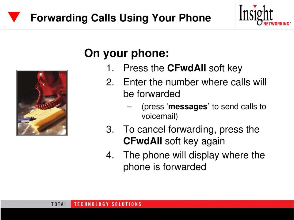 Enter the number where calls will be forwarded (press messages to send