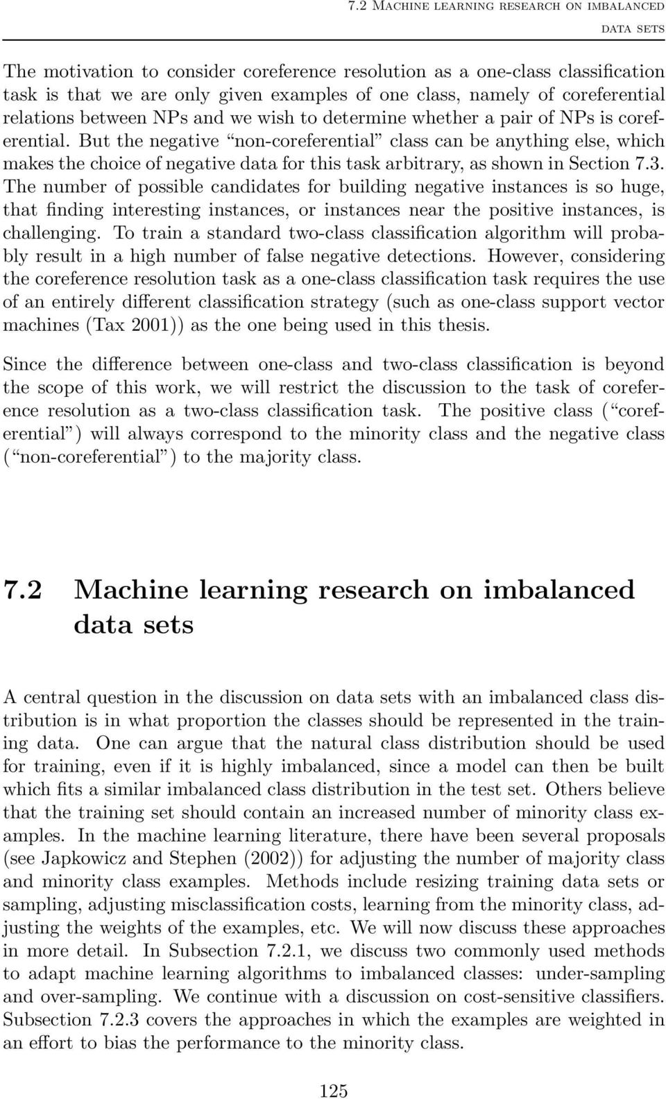 CHAPTER 7  The problem of imbalanced data sets - PDF