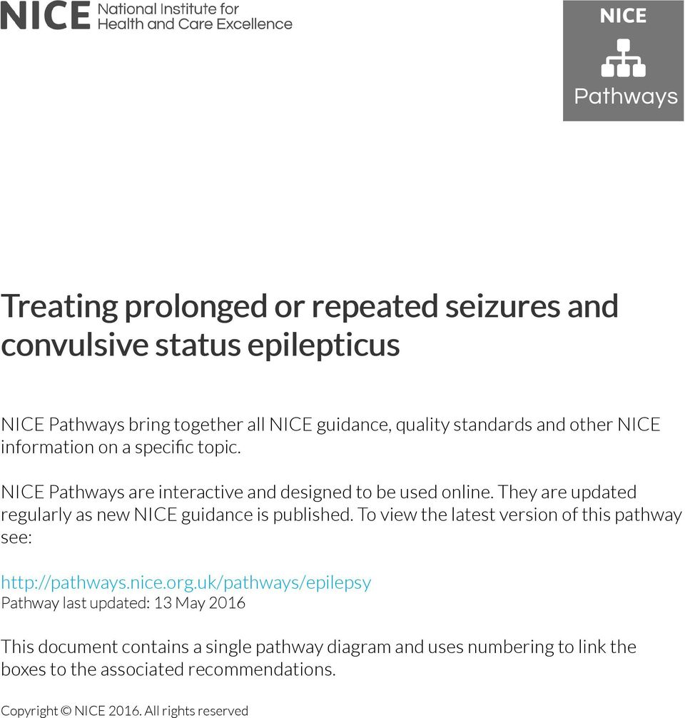 They are updated regularly as new NICE guidance is published. To view the latest version of this pathway see: http://pathways.nice.org.
