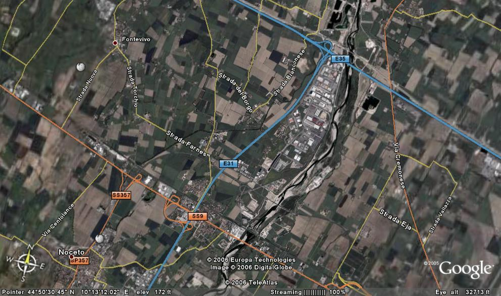 Parma Freight Village - Connection MOTORWAYS A1 Milano - Napoli (E35) A15 Parma La
