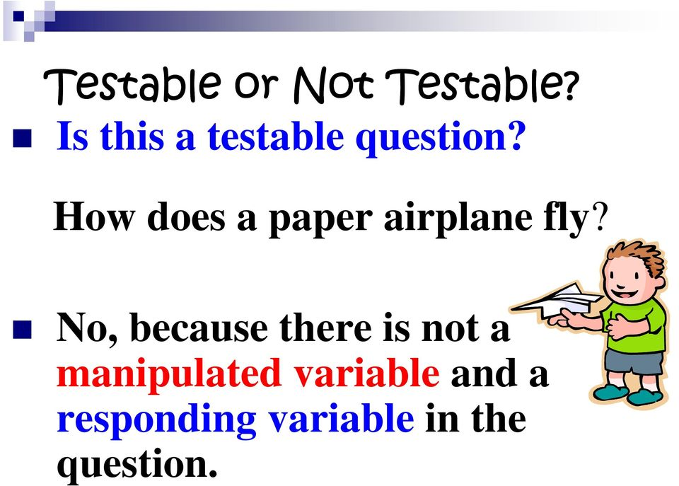 How does a paper airplane fly?