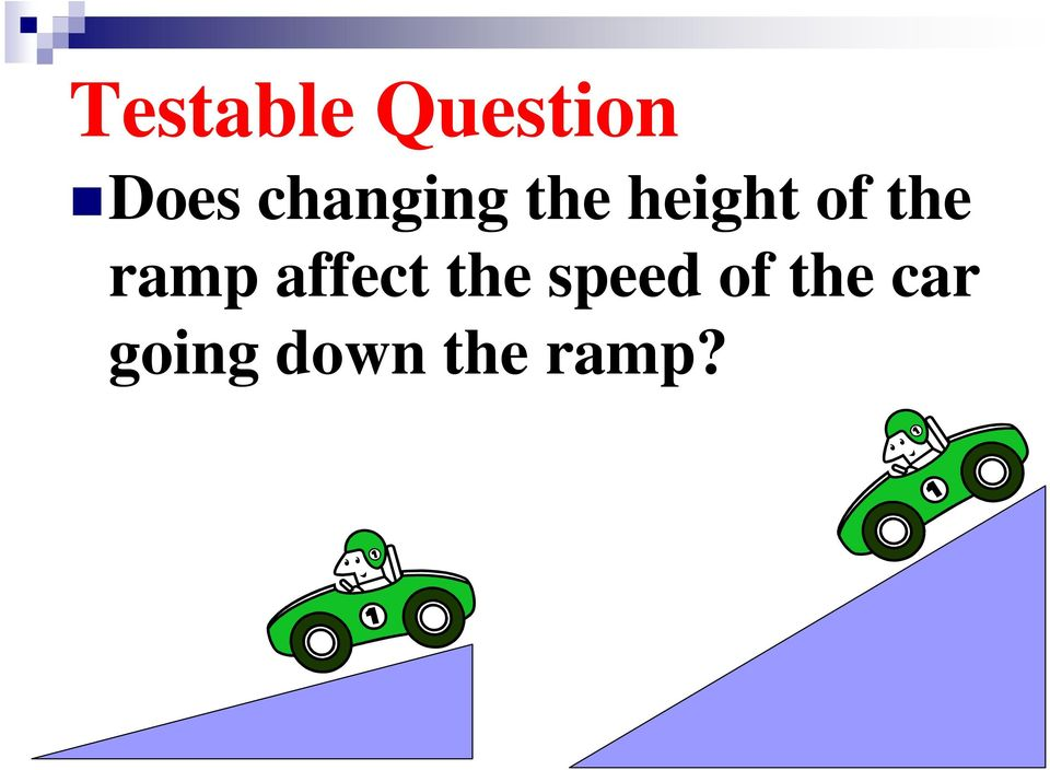 the ramp affect the speed