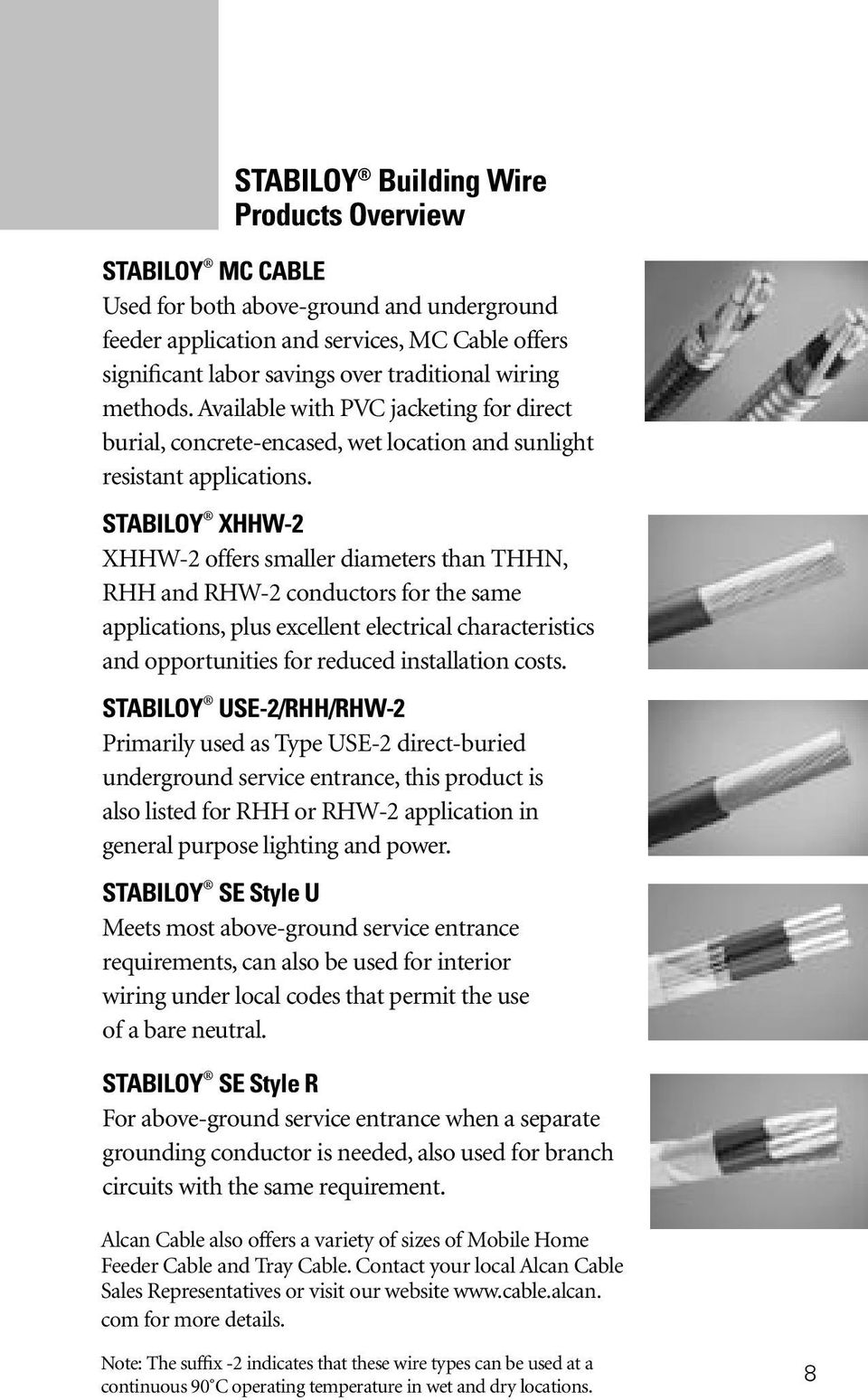 Alcan cable wireman s guide pdf stabiloy xhhw 2 xhhw 2 offers smaller diameters than thhn rhh and rhw greentooth Images