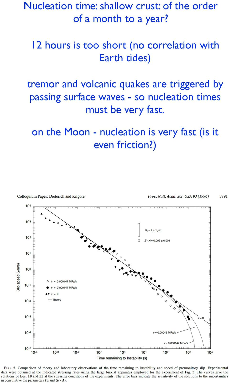 volcanic quakes are triggered by passing surface waves - so nucleation