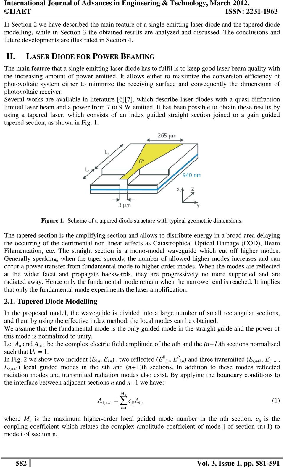 Laser Diode Modelling For Wireless Power Transmission Pdf Structure Of A The Cocluio Ad Future Developmet Are Illutrated I Sectio 4 Ii