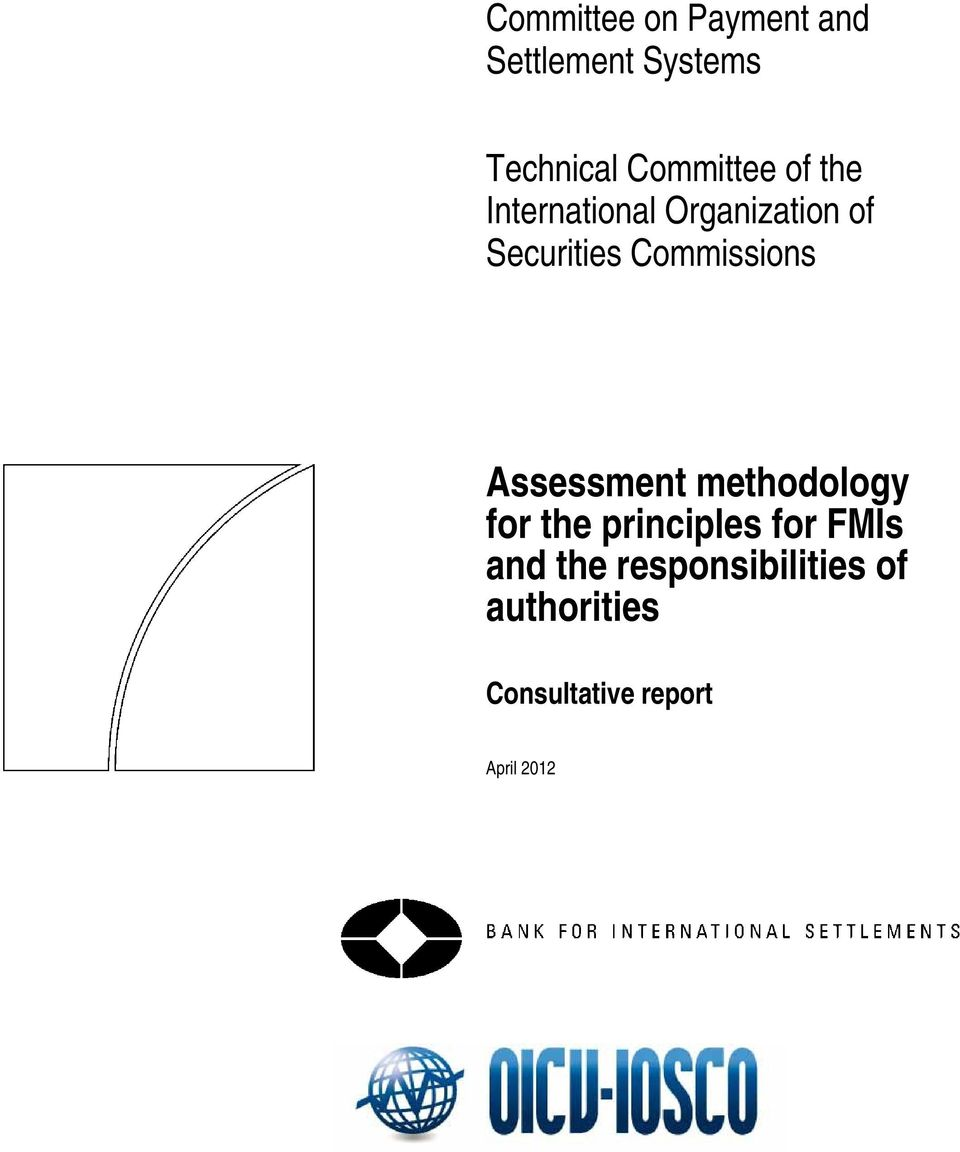 Commissions Assessment methodology for the principles for