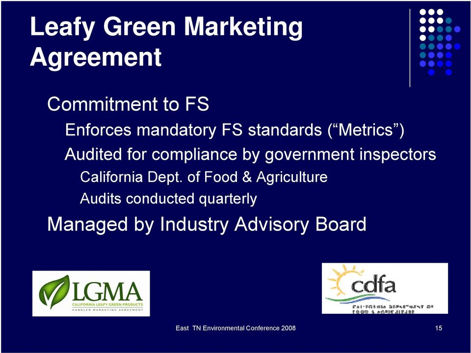 Produce Food Safety A Growers Perspective Willette M Crawford Ph