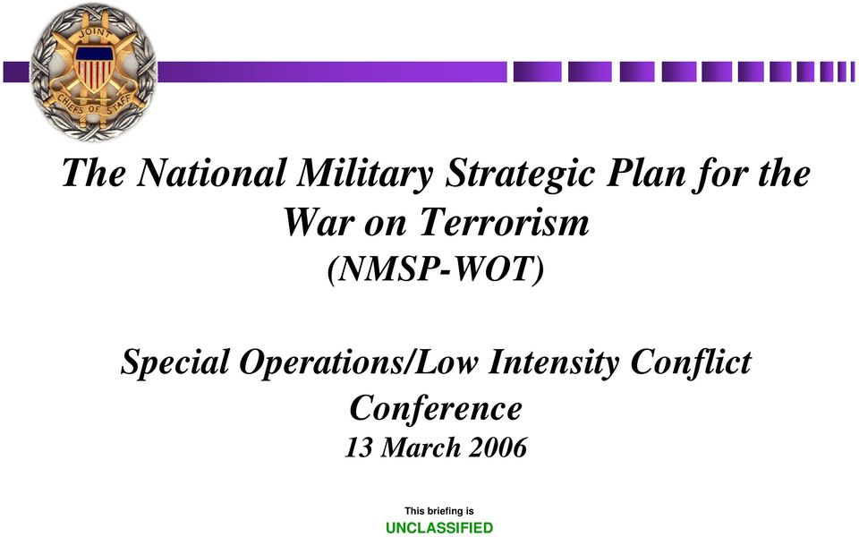 Operations/Low Intensity Conflict