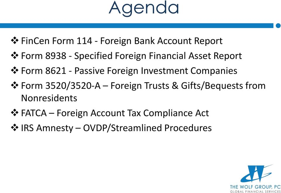 Foreign Financial Asset Reporting For Us Citizens And Green Card