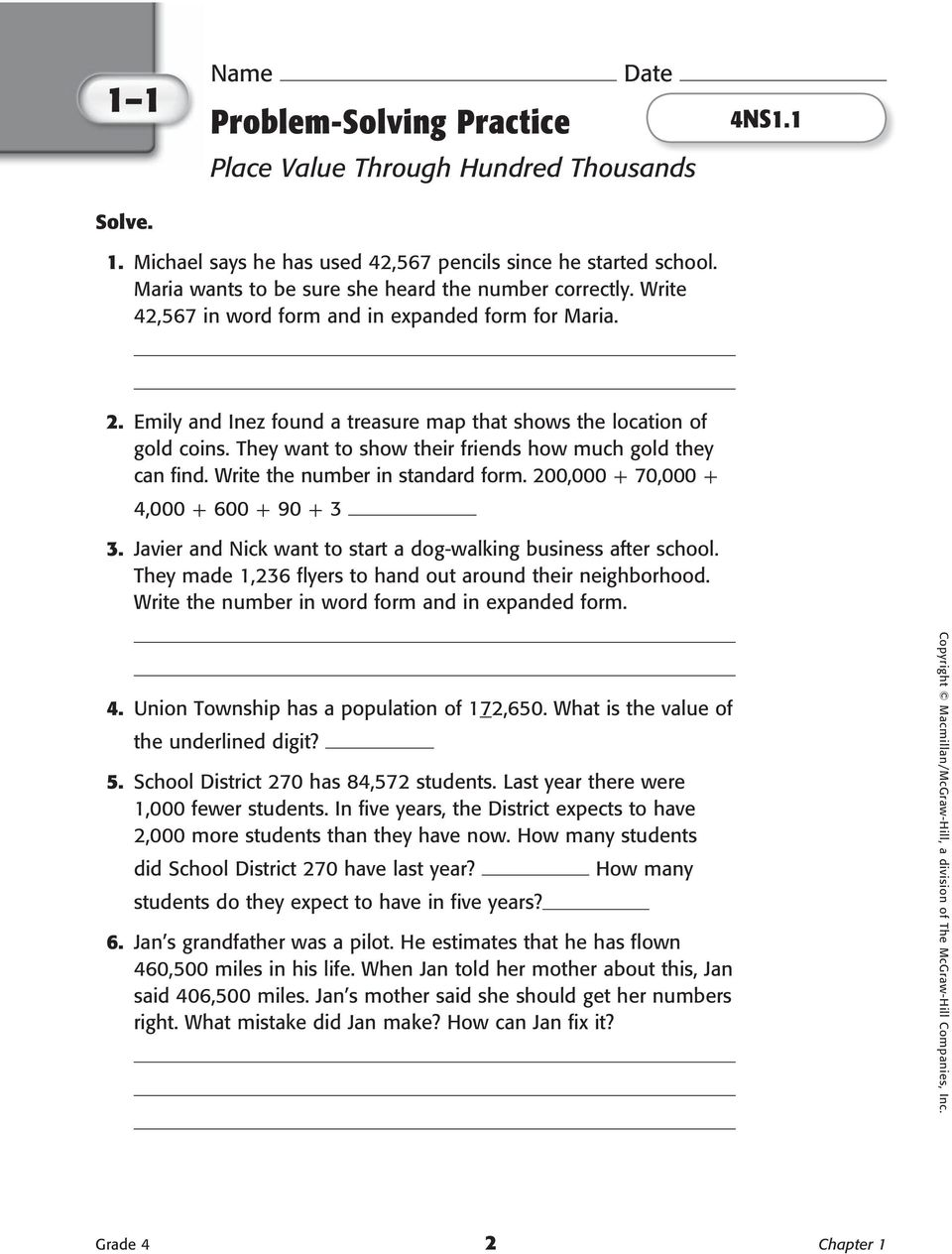Homework practice and problem solving practice workbook pdf they want to show their friends how much gold they can find write the number falaconquin