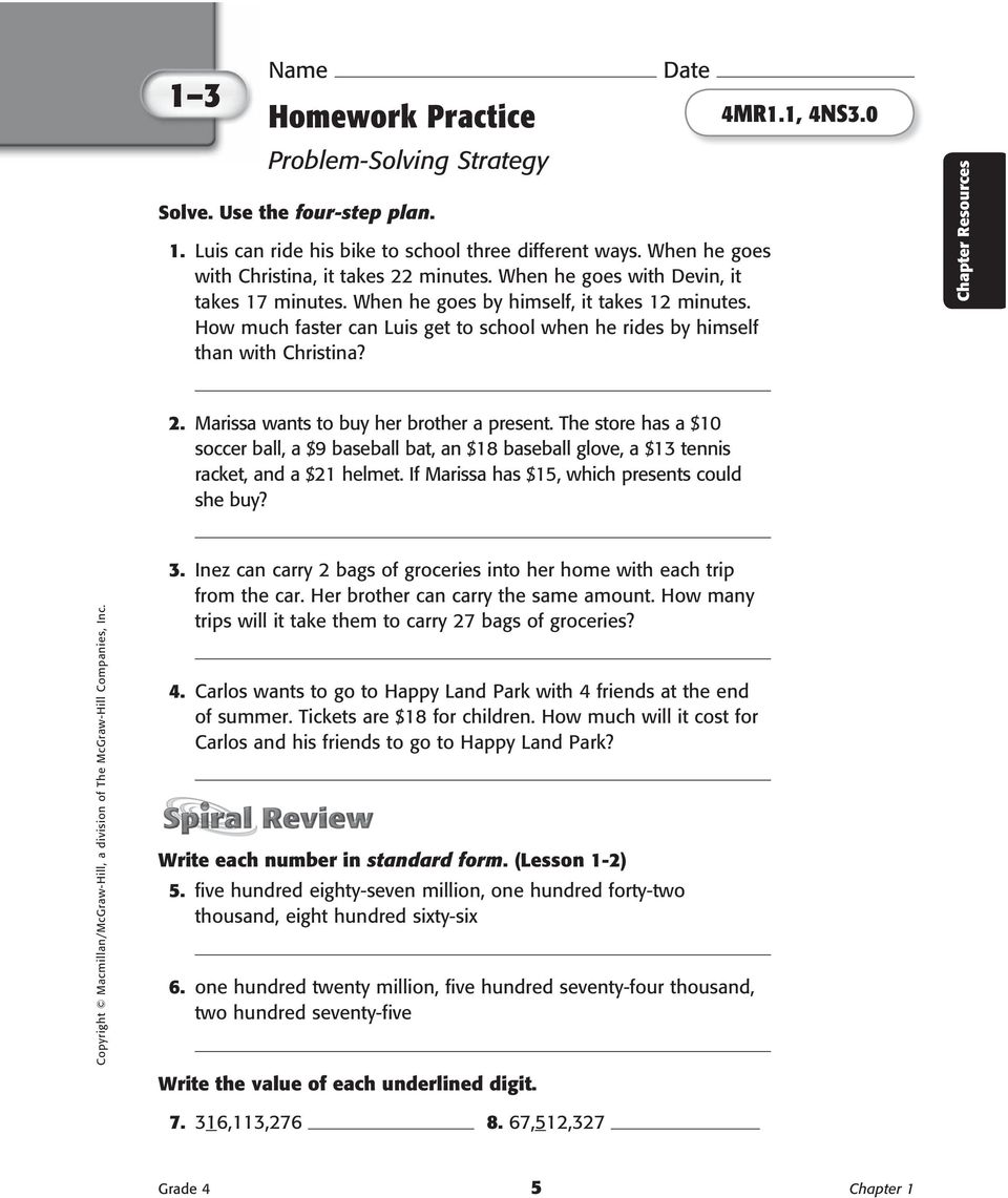 Workbooks scott foresman social studies workbook answers 5th grade : Homework Practice and Problem-Solving Practice Workbook - PDF