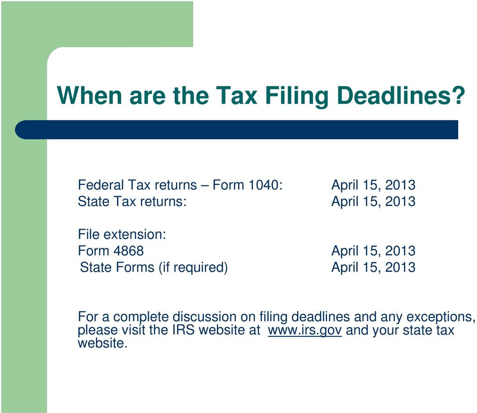 2012 Income Tax Overview For Students. March 13, 2013 Stanford ...