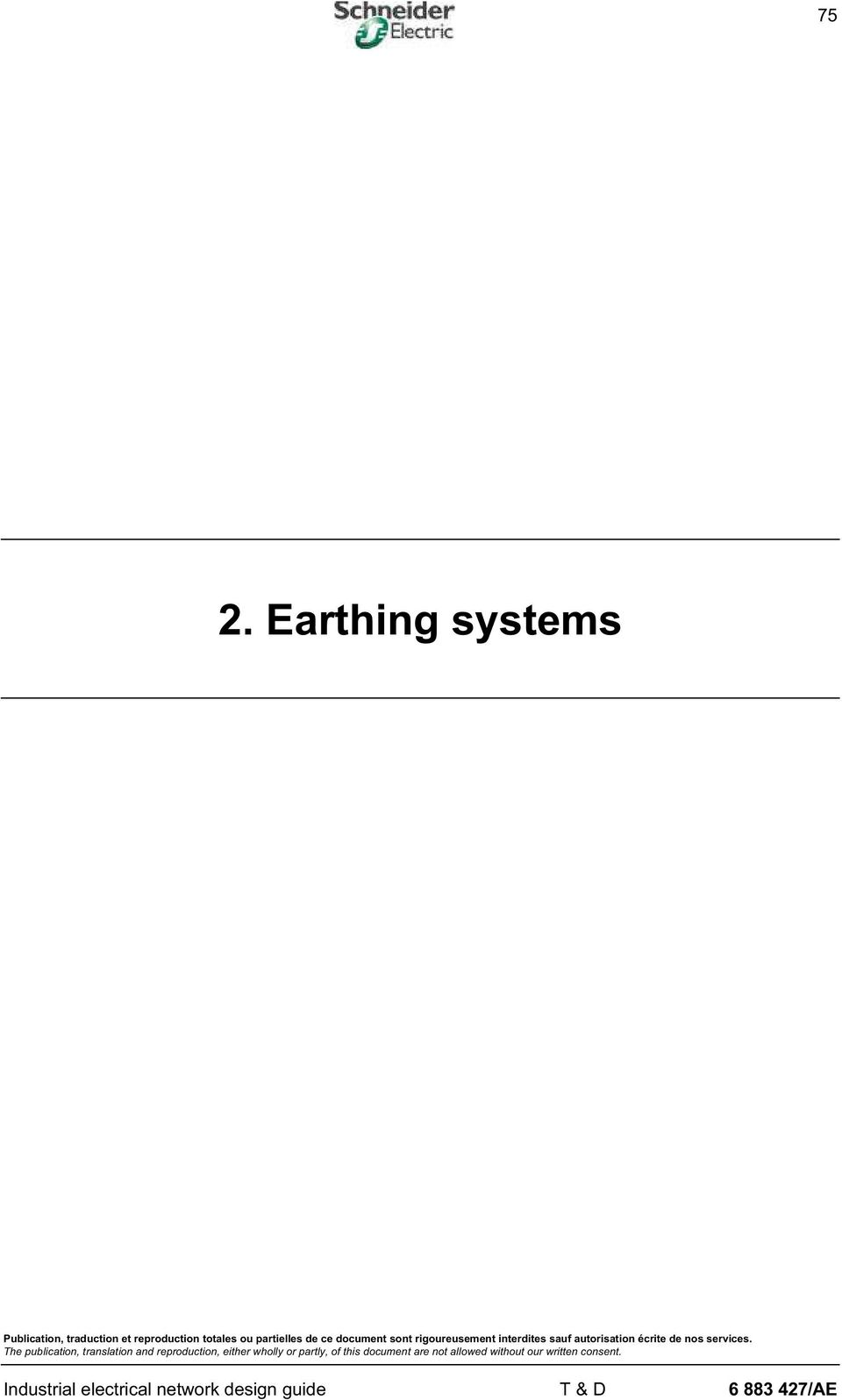 2 earthing systems industrial electrical network design guide t rh docplayer net industrial electrical network design guide schneider Industrial Electrical Wiring