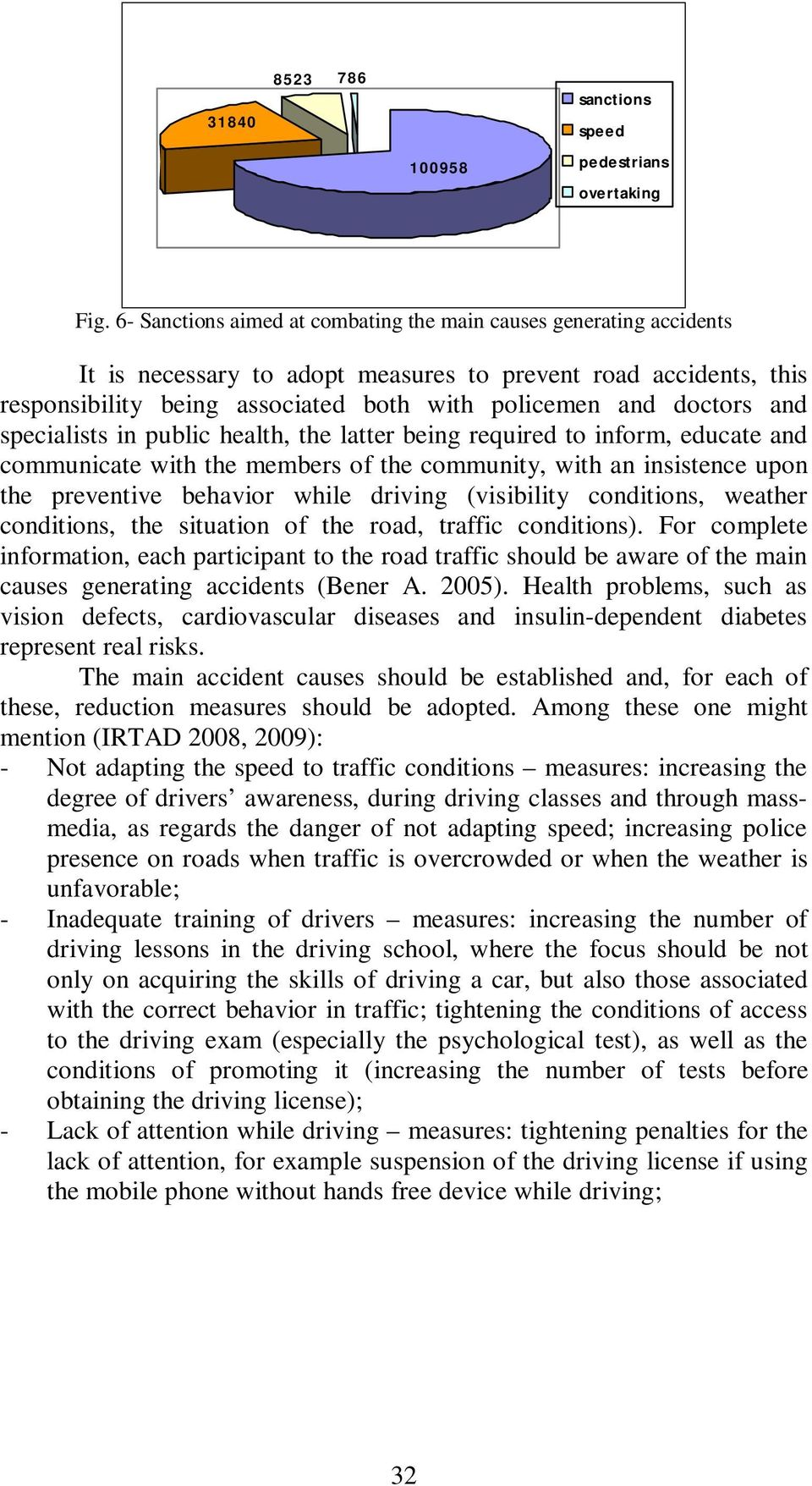 and specialists in public health, the latter being required to inform, educate and communicate with the members of the community, with an insistence upon the preventive behavior while driving