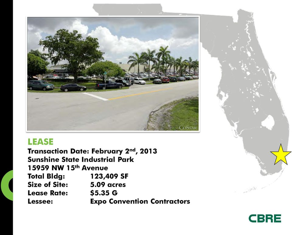 Avenue Total Bldg: 123,409 SF Size of Site: 5.