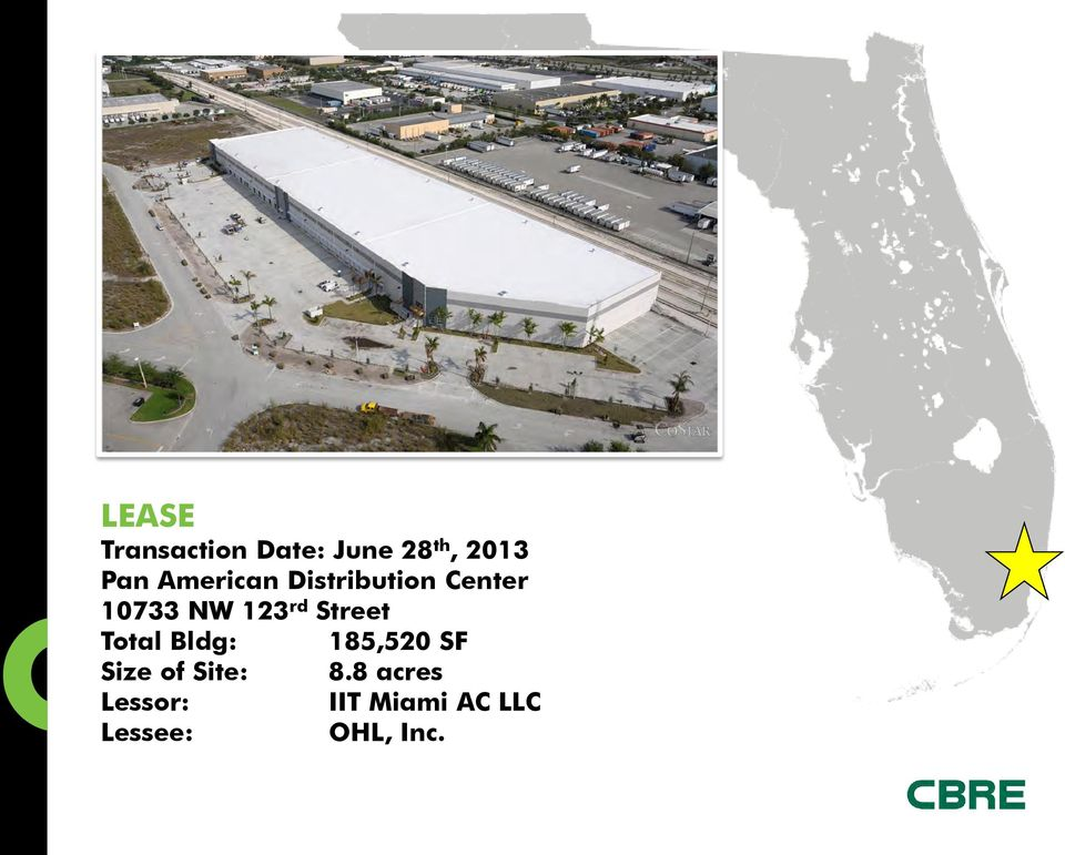 Street Total Bldg: 185,520 SF Size of Site: 8.