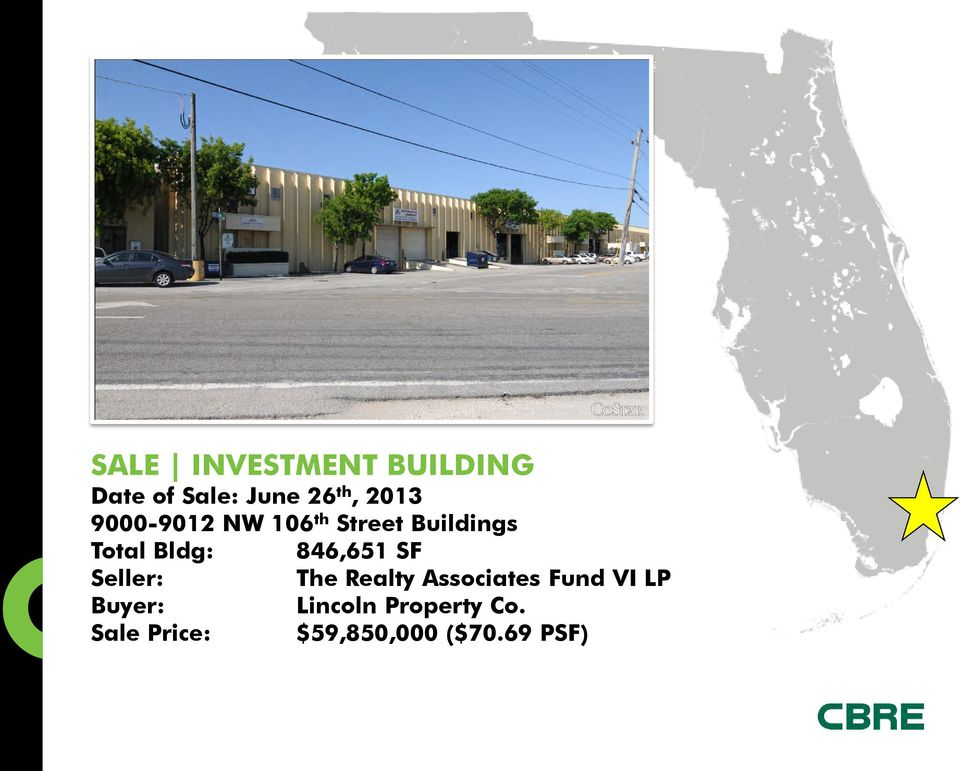 846,651 SF Seller: The Realty Associates Fund VI LP