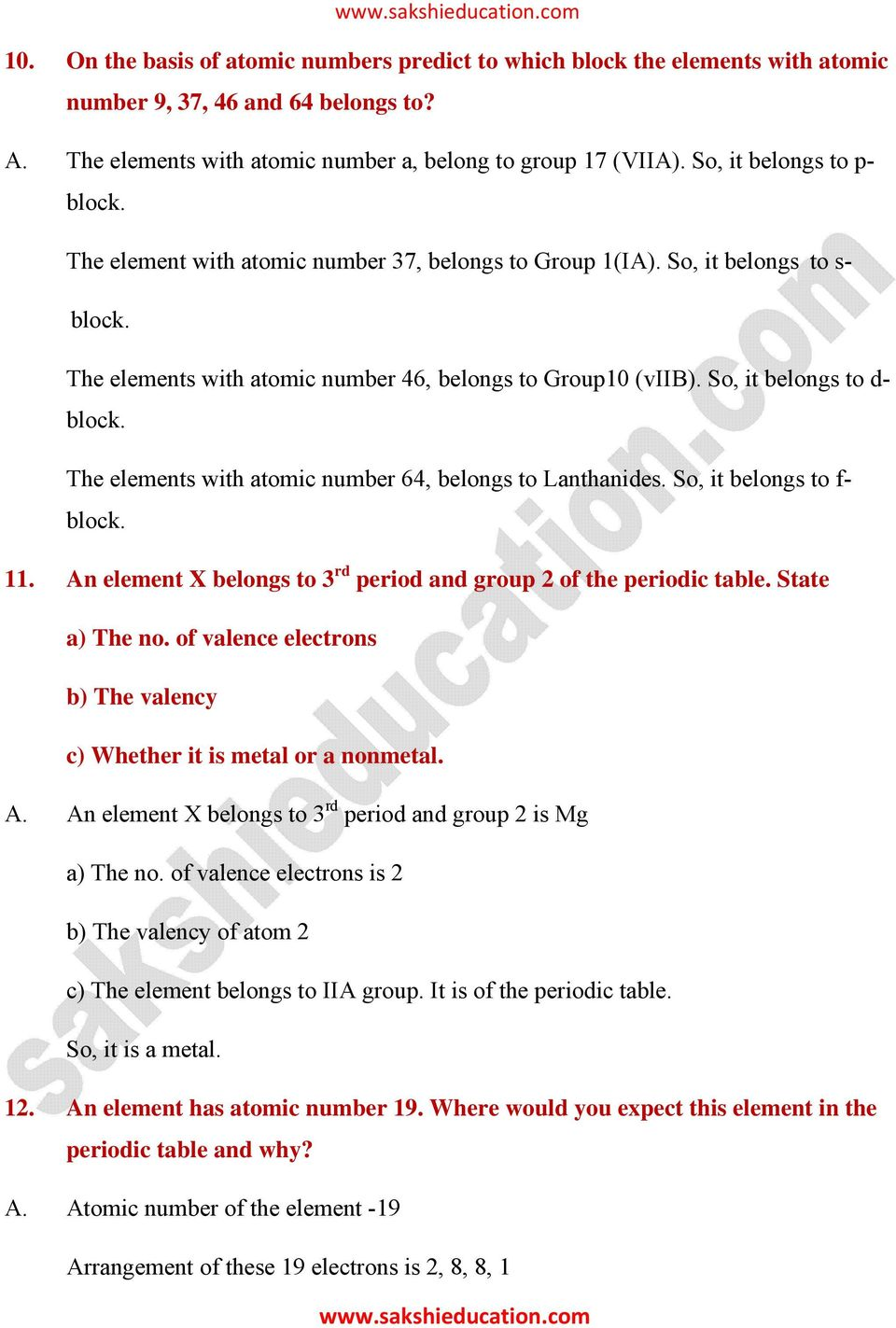 Chapter 9 classification of elements the periodic table pdf so it belongs to d block the elements with atomic number 64 urtaz Choice Image
