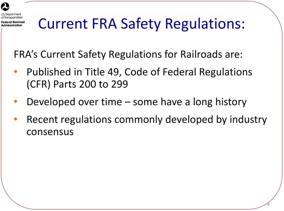 Development of US High Speed Rail Safety Requirements - PDF