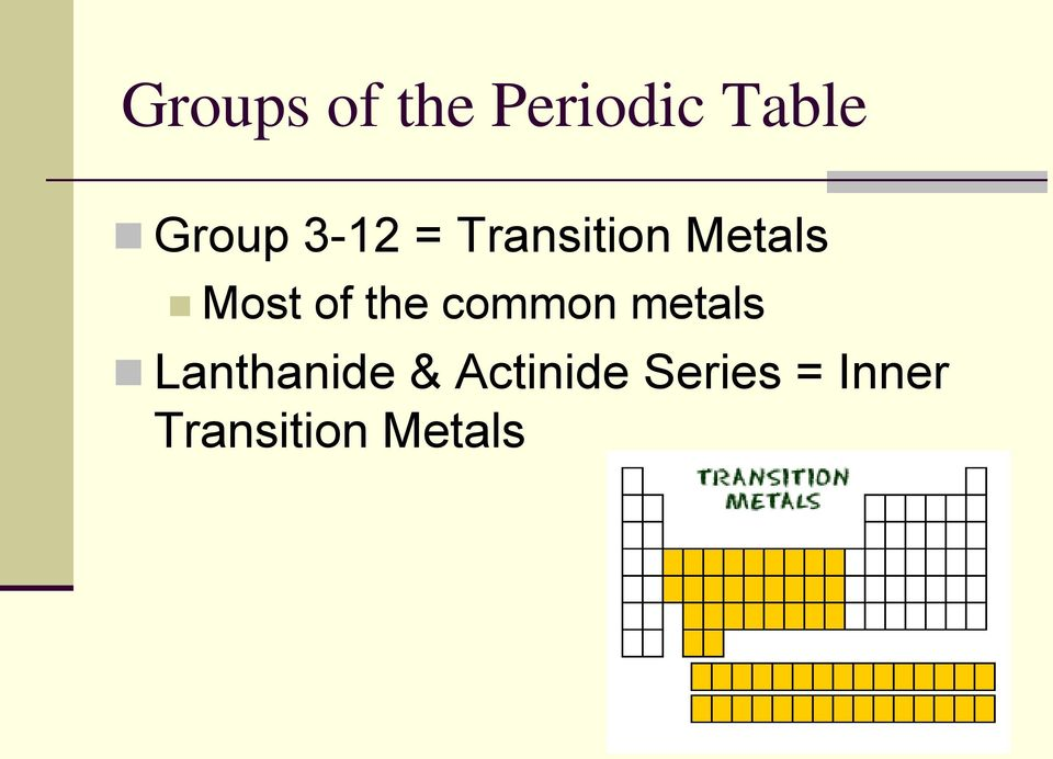 the common metals Lanthanide &