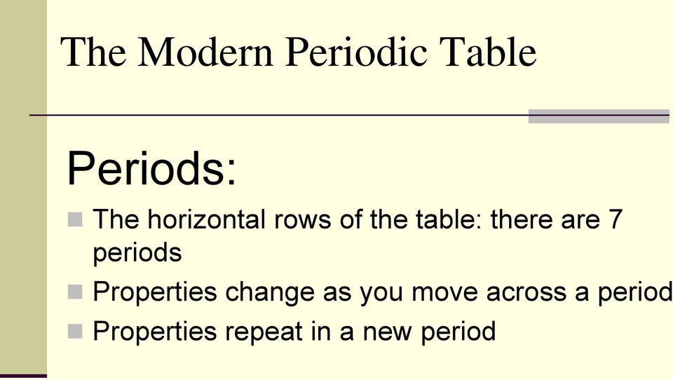 periods Properties change as you move