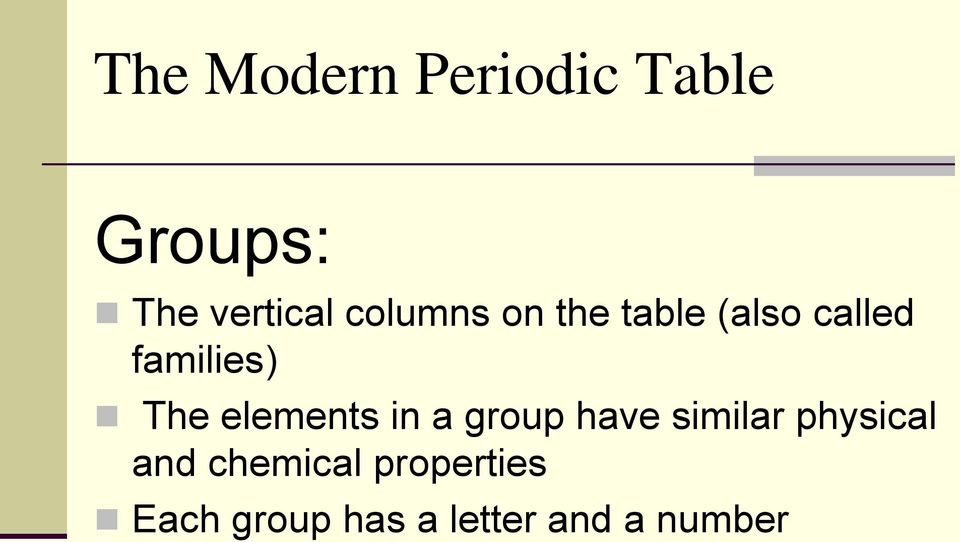 elements in a group have similar physical and