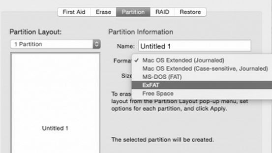 Open Utilities > Disk Utility > Select the HDD drive A new drive must be initialized 5. Click the Partition Tab 6. Select a Partition scheme.